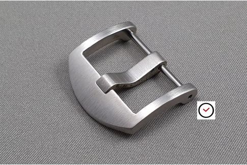 Brushed stainless steel DesignThumbnail screw-in buckle for watch strap