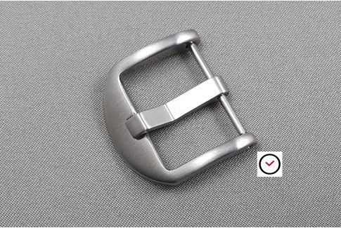 Brushed stainless steel Classic Thumbnail screw-in buckle for watch strap