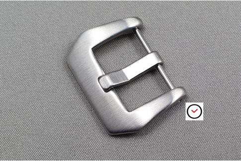 Brushed Pre-V screw-in buckle, stainless steel