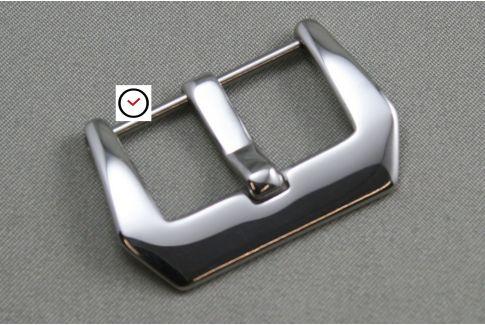 Boucle ardillon Pré-V acier inox poli (vissée) pour bracelet montre