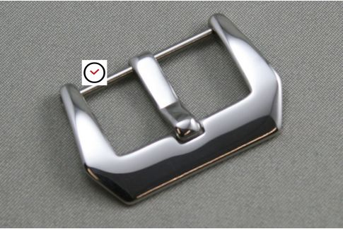 Polished Pre-V screw-in buckle, stainless steel