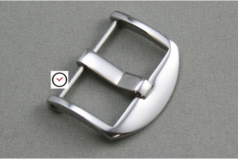 Polished Thumbnail screw-in buckle, stainless steel