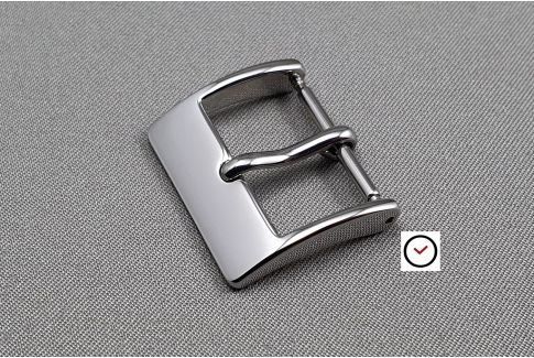 Elegance buckle for watch straps, shiny polished stainless steel