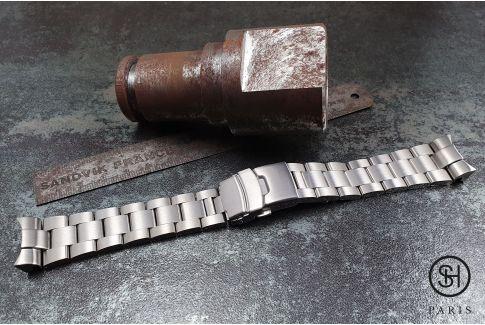 Bracelet montre Super Oyster pour Seiko SKX en acier inox massif, boucle déployante massive avec sécurité