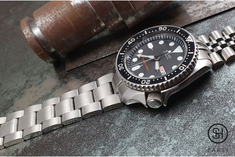 Super Oyster solid stainless steel watch band for Seiko SKX, solid security clasp