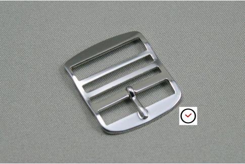 Boucle premium classique acier pour bracelets montre Perlon
