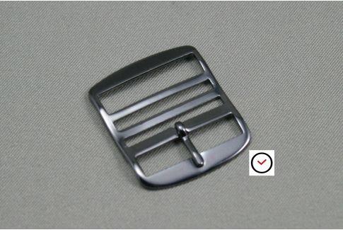 Black classic premium buckle for Perlon straps