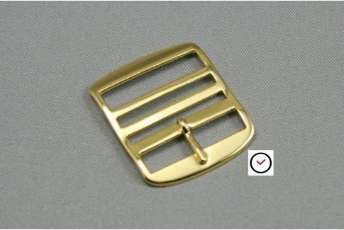 Yellow gold classic premium buckle for Perlon straps