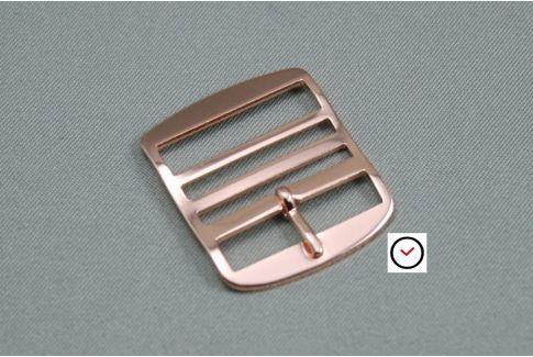 Boucle premium classique or rose pour bracelets montre Perlon