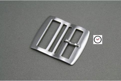 Boucle premium acier inox brossé pour bracelets montre Perlon