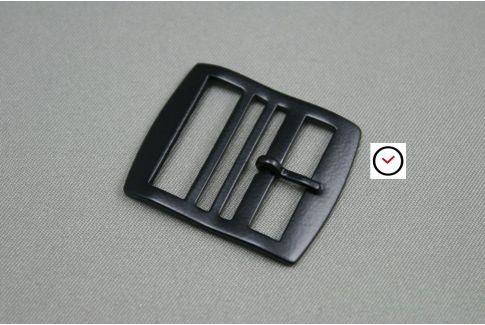 Boucle premium acier inox noir mat pour bracelets montre Perlon