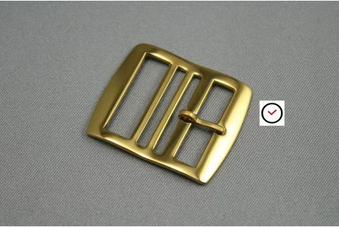 Boucle premium acier inox or jaune pour bracelets montre Perlon