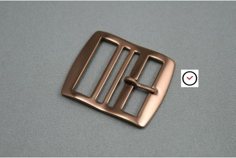 Rose gold stainless steel premium buckle for Perlon straps