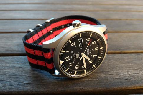 Bracelet NATO 2 pièces Bond Noir Rouge