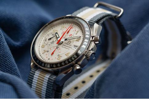 Grey White Sandy Beige NATO watch strap (nylon)