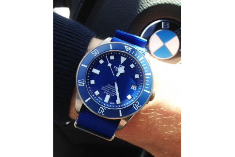Bracelet nylon NATO Bleu Elec