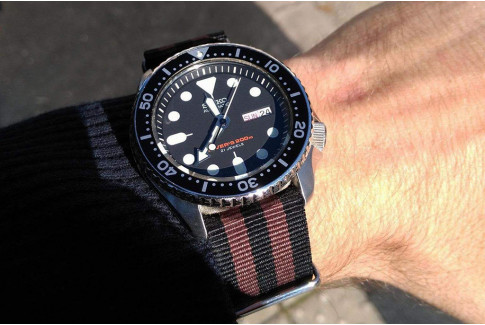 Black Chocolate Brown James Bond G10 NATO strap (nylon)