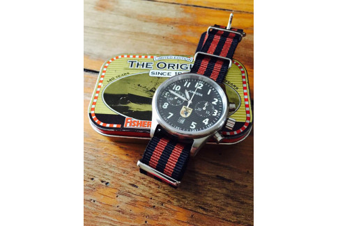 Black Copper Brown James Bond NATO watch strap (nylon)