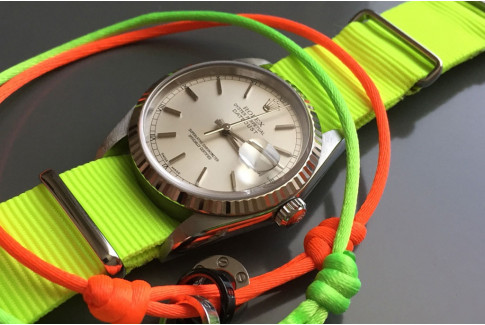 Fluo Yellow G10 NATO strap (nylon)