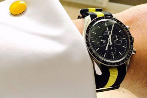 Black Yellow G10 NATO strap (nylon)