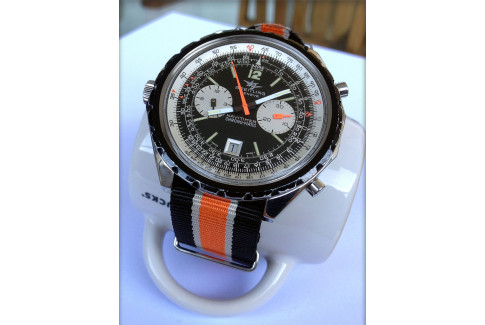 Black White Orange G10 NATO strap (nylon)