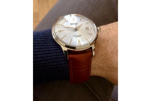 Bracelet montre HIRSCH Duke Marron Or, cuir de veau italien, boucle acier