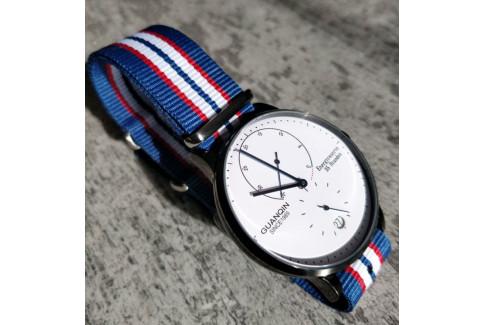 Blue Red White NATO watch strap (nylon)