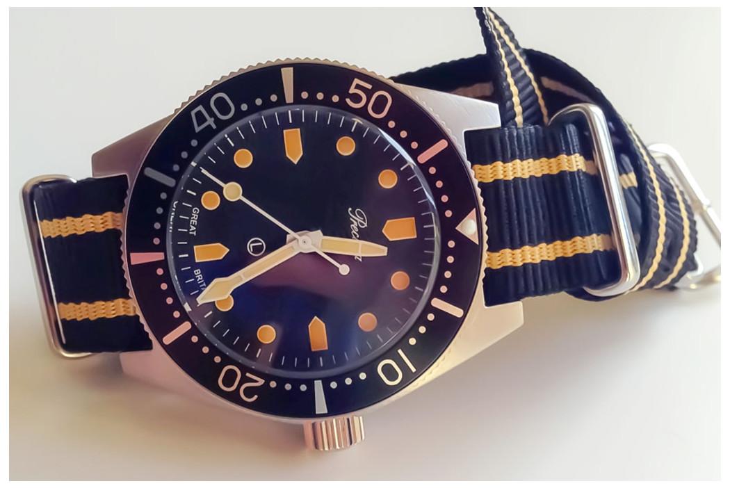 Bracelet nylon NATO Noir liserés Sable