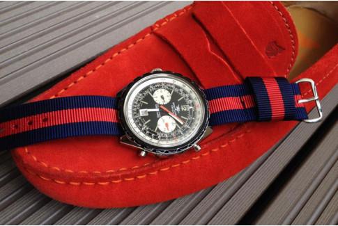 Bracelet nylon US Military Bleu Navy Rouge