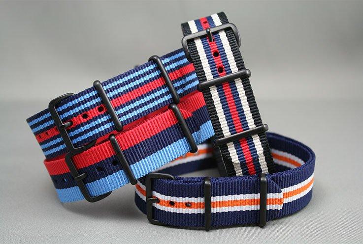 bracelets pour montres traditionnels nato zulu perlon us et accessoires d 39 horlogerie. Black Bedroom Furniture Sets. Home Design Ideas