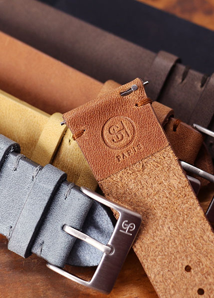 SH Vintage watch straps with quick release spring bars